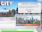 SimCity - čekání na přihlášení do hry