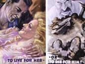 Obl�ben� propagandistick� juxtapozice - chcete ��t se svou milou, nebo zem��t