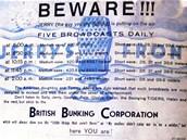 Němci také pro Američany připravovali řadu rozhlasových pořadů. Leták je
