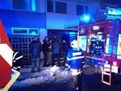 Požár bytu na kladenském sídlišti (5. března 2013)