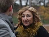 Halina Pawlowská během natáčení dokumentu Tajemství rodu Haliny Pawlowské