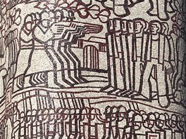 Na Hourově ústecké mozaice je stovka postav od Přemysla Oráče přes výjevy