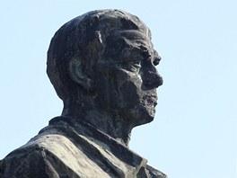 Sousoší na památku generální stávky v Hodoníně.
