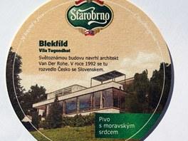 Pivovar Starobrno připravil novou sérii pivních podtácků. Jsou na nich brněnské