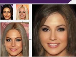 """Hrátky s Photoshopem: takhle by vypadala """"průměrná tvář pornoherečky""""."""