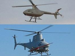 Čínský bezpilotní stroj SVU 200 a americký MQ-8 Fire Scout