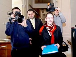 Pracovnice Sen�tu Tereza Illkov� p�inesla dnes na �stavn� soud prvn� �stavn�