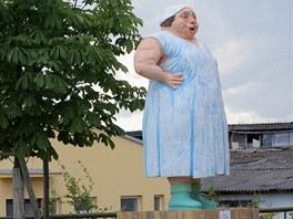 Socha Heleny Růžičkové v Hošticích u Volyně
