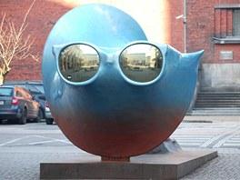 Úsvit - neobvyklé dílo stojící před Domem umění v Ostravě.