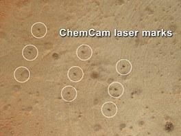 """Sn�mek sk�ly p�ezd�van� """"Wernecke"""" se stopami �innosti laseru voz�tka..."""