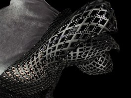 Detail návrhu šatů z 3D tiskárny