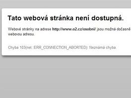 Webové stránky O2 a T-Mobile jsou aktuálně mimo provoz