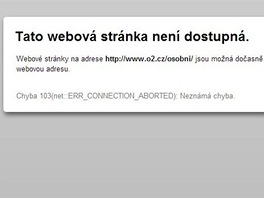 Webov� str�nky O2 a T-Mobile jsou aktu�ln� mimo provoz