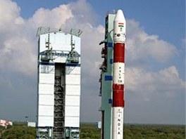 Indická čtyřstupňová raketa PSLV-C20