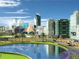 """V novém městě """"Africa's Silicon Savannah"""" (Silikonová savana Afriky), zaměřeném"""