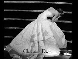 """Pád Jennifer Lawrence na Oscarech inspiroval k vtipné """"reklamě"""" na Dior."""