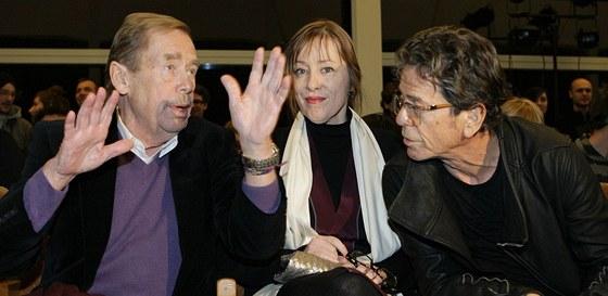 Václav Havel, Suzanne Vega a Lou Reed na Cenách Jindřicha Chalupeckého v Praze