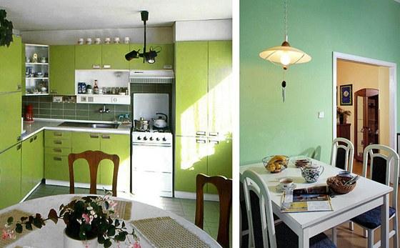 Zelená barva by se ale neměla ve velké ploše objevit u jídelního stolu – mohla by se odrazit na potravinách (maso vypadá zkaženě).