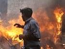 Muslimské nepokoje v pákistánském Láhauru (10. března 2013)