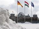 Pod sněhem je i německý Berlín.