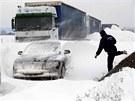Přívaly sněhu potrápily v uplynulých dnech i Maďarsko. Doprava tam na mnoham