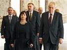 Prezident Milo� Zeman p�ijal na Pra�sk�m hrad� �leny diplomatick�ho sboru. Na
