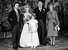 �v�dsk� princezna Lilian p�i svatb� s princem Bertilem.