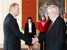 Prezident Miloš Zeman jmenoval na návrh premiéra Petra Nečase ministrem obrany