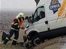 Náledí pokrylo silnice na Chrudimsku a bylo příčinou několika dopravních nehod.