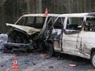Obě vozidla začala po srážce mezi Špindlerovým Mlýnem a Špindlerovou boudou