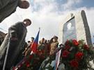Odhalení pomníku generálu a československému prezidentu Ludvíku Svobodovi v