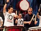 Bubeník Jaroslav Muzikant se skupinou Yamato