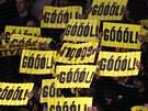 GÓÓÓL! Litvínovští fanoušci přejí úspěch svému celku.