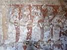 Na gotick� fresce Posledn�ho soudu v Broumov� je vid�t podobenstv� o deseti
