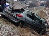 Nehodu na Nymbursku �idi� nep�e�il.