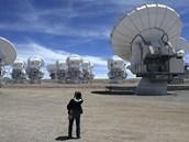 Observatoř ALMA v Chile (12. března 2013).