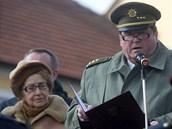 Odhalení pomníku bývalému generálu a československému prezidentu Ludvíku...