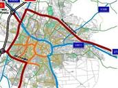 Návrh výhledového vedení dálnic, rychlostních silnic a silnic I. třídy v Hradci