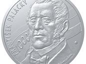 František Palacký od Oldřicha Kulhánka na stříbrné medaili