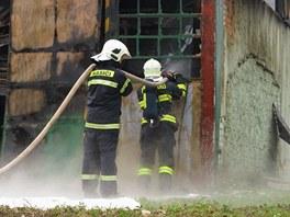 V obci Přítluky na Břeclavsku lehla popelem hala s dřevěnými bednami. Případem