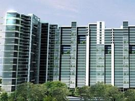 Jedna z budov komplexu Bandra-Kurla v indickém městě Mumbaí