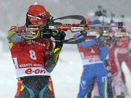 TREFÍM SE? Michal Šlesingr během Světového poháru v Chanty-Mansijsku.