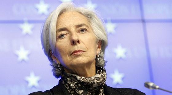 Šéfka MMF Christine Lagardeová (25. března 2013)