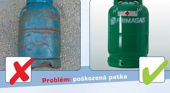Problémy s plynovou lahví