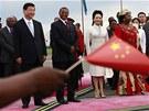 ��nsk� prezident Si �in-pching a jeho �ena Pcheng Li-j�an b�hem n�v�t�vy