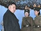 Severokorejský vůdce Kim Čong-un na inspekci ozbrojených složek (25. března