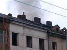 Požár zachvátil v pátek ráno vybydlený dům v Majakovského ulici v ústecké