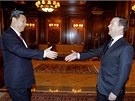 Si Ťin-pching se sešel i s ruským ministerským předsedou Dmitrijem Medveděvem