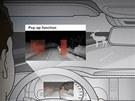 Infrakamera odhalí v noci lidi a zvířata na silnici.