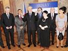 Prezident Miloš Zeman vůbec poprvé ve své funkci navštívil jednání Senátu. (21.
